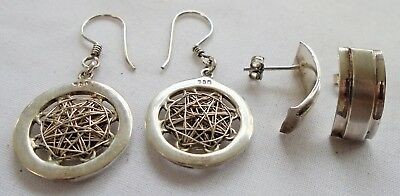 Two pairs good quality vintage sterling silver earrings