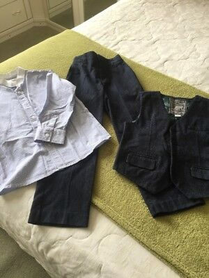 Boys Monsoon Blue Suit 6 Yrs