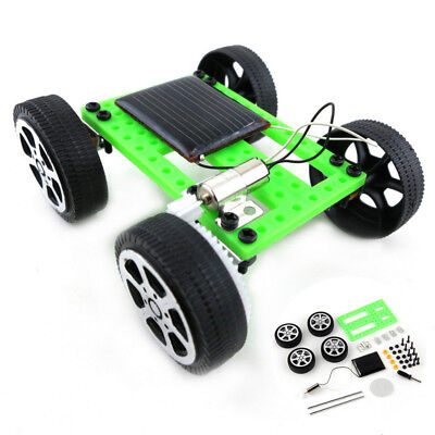 Solar Powered Mini Toy DIY Car Kit Gadget Children Educational Hobby Fun Toy