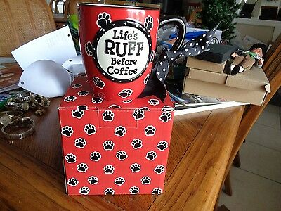 Burton and Burton Life's RUFF Without Coffee 16 oz Ceramic Mug New With Box