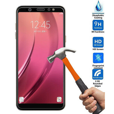 2Pcs Premium Tempered Glass Screen Protector for Samsung Galaxy A6 /A8 Plus 2018