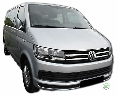 VW Transporter T6 2015-up Front Grill Chrome Cover Trim overlay kit 4 pcs