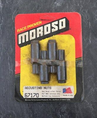 Moroso Hex Head Adjusting Nuts #67170 W/ Set Screw #67160 For Exhausts