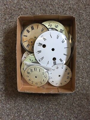 Antique Enamelled Clock Dial Face x12 pieces