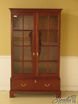 42256E: STICKLEY Colonial WIlliamsburg Collection 2 Door Mahogany Bookcase