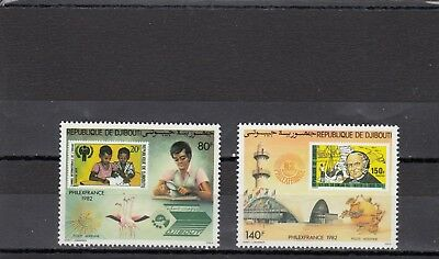 a121 - DJIBOUTI - SG847-848 MNH 1982 PHILEXFRANCE 82 INTERNATIONAL STAMP EXH
