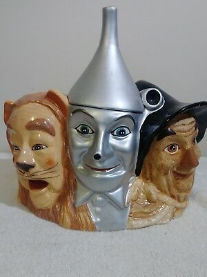 Retired Wizard Of Oz Cookie Jar Cowardly Lion Tin Man Scare Crow