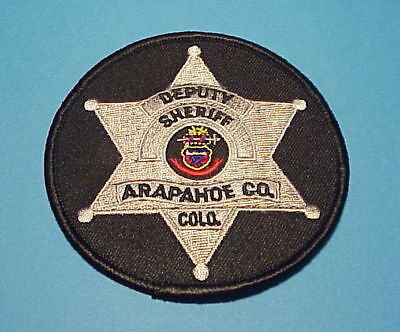 Arapahoe County  Colorado  ( Type 2 )  Sheriff/police Dept. Patch  Free Shipping