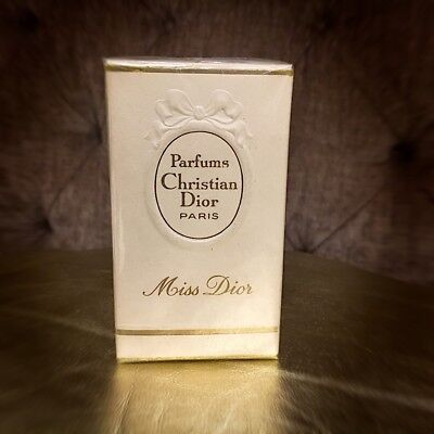 Collectible Rare Vintage DIOR Miss Dior Parfum Pure Perfume 60s Sealed 7.5ml 60'