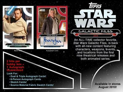 Star Wars Galactic Files Hobby Box (Topps 2018)