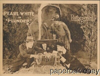 Original 1923 Pearl White In Plunder Patheserial Lobby Card