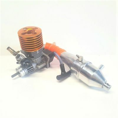 SH .12 Nitro Car Engine With Tuned Pipe USED