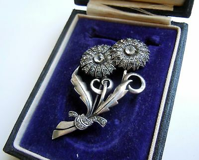 FABERGE Antique Imperial RUSSIAN BROOCH Flowers, 84 silver.