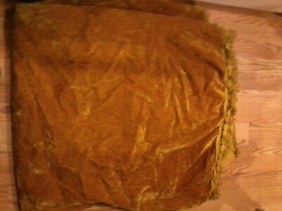 Vintage Yellow Gold Like Bedspread