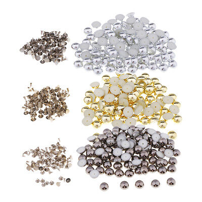 100 Sets Dome Rivet Studs Spots Leather Rivets Spikes for DIY Clothes Bag Decor