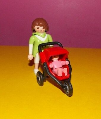PLAYMOBIL 4697 MUM WITH BUGGY//STROLLER AND BABY BRAND NEW