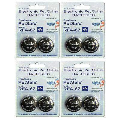 8 Pack PetSafe ® Compatible RFA-67 & RFA-67D-11 Replacement Battery 4x2 Packs