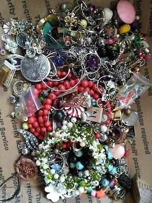 Huge Vintage To Now Junk Drawer Jewelry Lot Estate Find Unsearched Untested