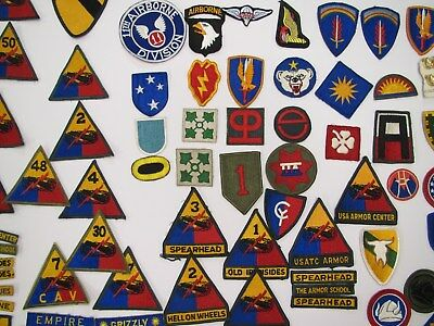 U S Army Military Patched Many Units about 70 WWII to Current