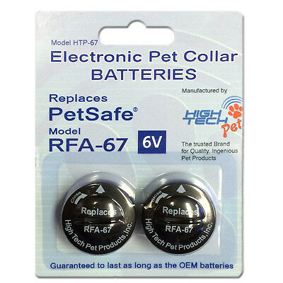 PetSafe ® Compatible RFA-67 & RFA-67D-11 Replacement Battery 2 Pack