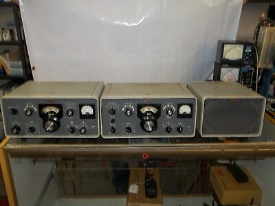 Vintage Collins 75S-3B Receiver 32S-3 Transmitter and 516F-2 PS/Speaker Ensemble