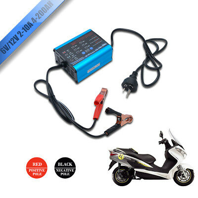 2018 New Smart Battery Charger 2A 6A 10A 12V/6V Automatic 7 stages SLA Car 4WD