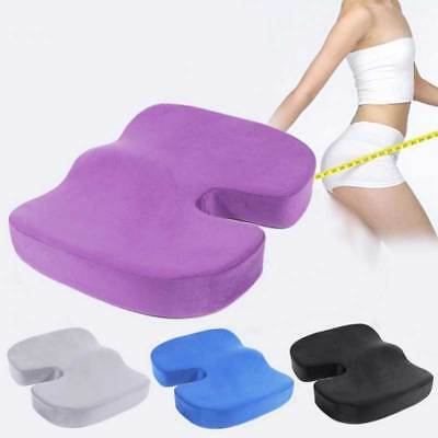 Coccyx Orthopedic Cushion Memory Foam Office Chair Seat Pain Relief Pillow Pad