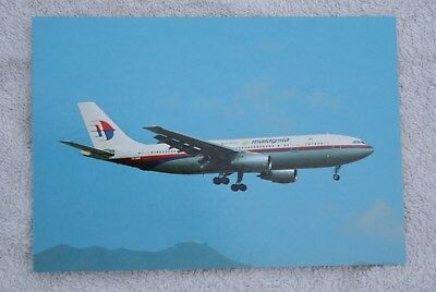 Carte postale Airbus A300B4 MALAYSIA AIRLINES (9M-MHD)