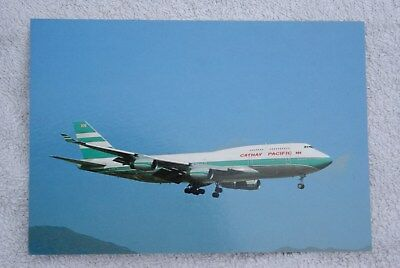 Carte postale Boeing 747-400 CATHAY PACIFIC (VR-HOR)