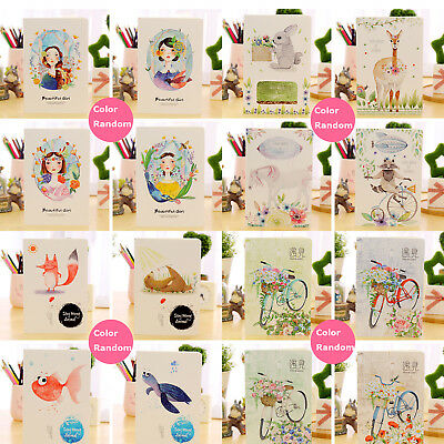 Kids Teens A5 32K Cartoon Animal School Student Notebook Diary Notepad For Gift