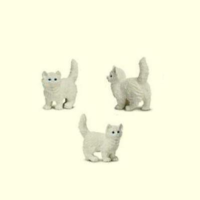 Doll House Shoppe Toy White Kitten Set/3 Game Pcs SL349622 Micro-mini Miniature