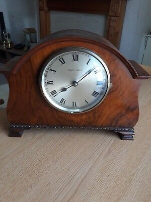 bulle mantel clock untested in wooden case
