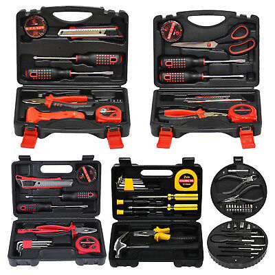 24 pcs Home Household Tool Set Steel Hand Tools Kit with Toolbox Storage Box