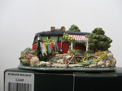 """Lilliput Lane L2405 """"Busmans Holiday"""" New, mint in original box with deed."""