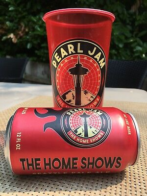 Pearl Jam & Georgetown Brewing Home Shows  Seattle Ale Beer Can & Stadium Cup