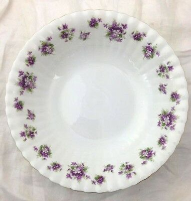 Royal Albert China SWEET VIOLETS Round Vegetable Bowl EXCELLENT