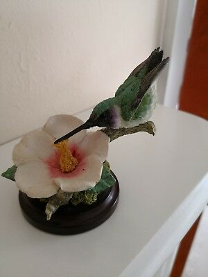 Stunning country artists bird in great condition humming bird/kingfisher?