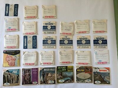 Lot of Sawyers View-Master Stereo Pictures Reels - QTY: 73 reels