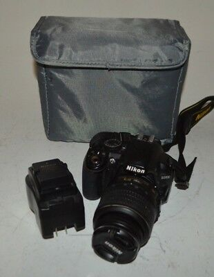 Nikon D3100 14.2MP Digital SLR Camera w Charger & AF-S DX VR 18-55mm Lens