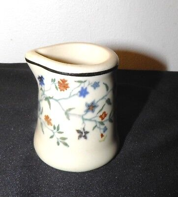 Vtg Restaurant Ware INDIVIDUAL CREAMER All Over Flowers Unbranded Pour Spout