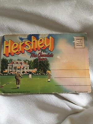 Hershey PA The Chocolate Town Vintage Picture Card Book