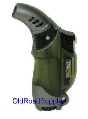 GREEN Fasfil Single Jet Easy Grip Torch Cigar Lighter IN STOCK & TESTED!