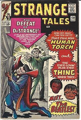 Strange Tales 130 March 1965 Beatles Appearance 4.5 Very Good+ No Reserve