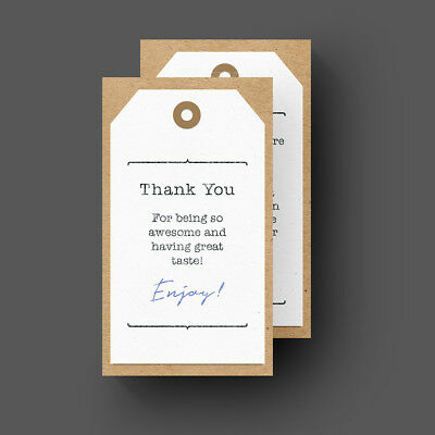 500 Thank You For Your Purchase - Seller Store Business Cards 16pt UV Gloss