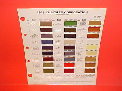 1969 Chrysler Plymouth Dodge Super Bee Road Runner Charger Exterior Paint Chips