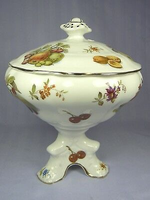 HAMMERSLEY CANDY JAR BOX NEW FRUIT NUTS FRUITS & FLOWERS Pedestal Lidded