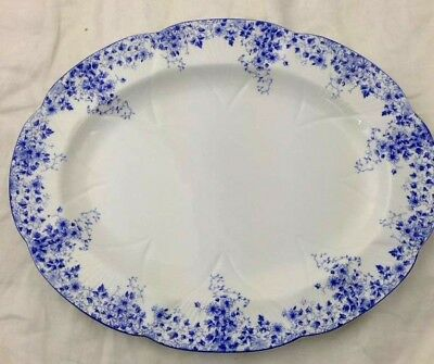 "Serving Platter 13 1/8"" Dainty Blue Shelley England Bone China 051/28 Floral"
