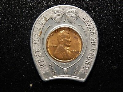 1936 Keep Me And Never Go Broke Encased Penny!  Yy202Qxx