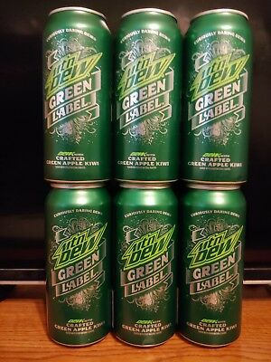 Newly Discontinued FULL Mountain Dew Green Label