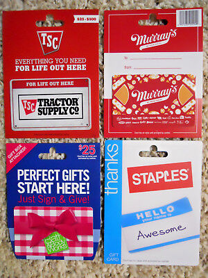 Collectible Gift Cards, with backing, no value on cards, new and unused     (TM)
